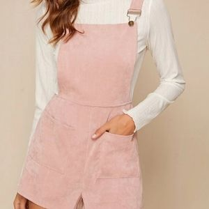 Pink Corduroy Overall Romper ❤